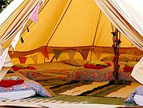 The Lily Glampsite bell tents